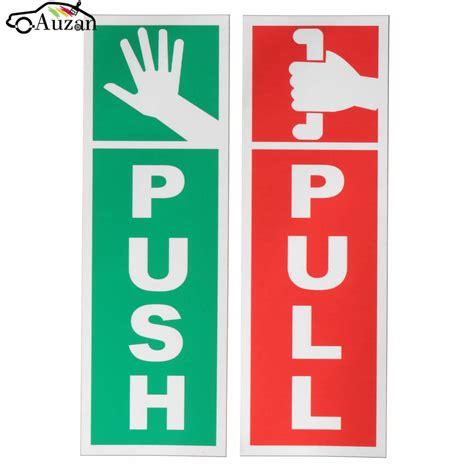 Open Sign Signage Pintu Kaca push pull door window gloss laminated warning sign vinyl