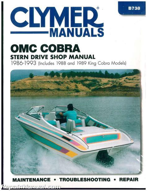 cobra boat engines clymer omc cobra 1986 1993 stern drive boat engine repair