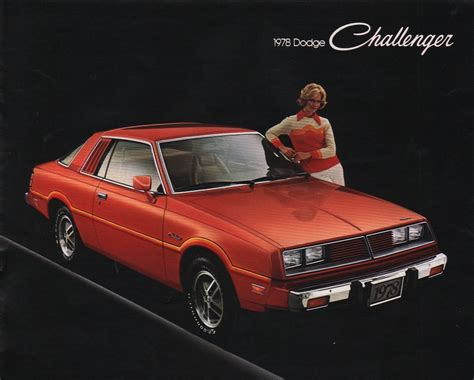 1978 dodge challenger chrysler 1973 dodge challenger sales brochure