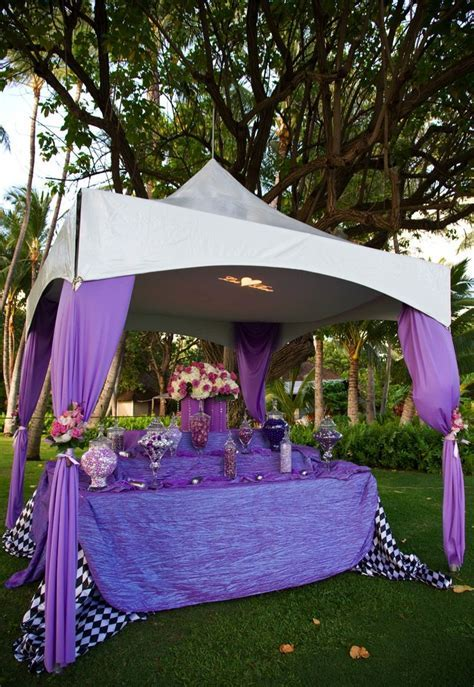 tented candy buffet. I like this idea, but it needs better