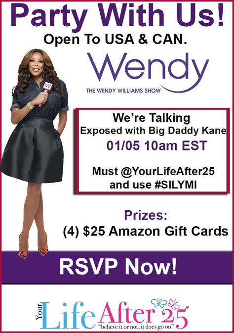 Wendy Williams Sweepstakes - enter to win your life after 25 s exposed and silymi