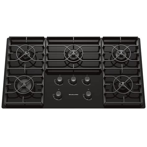Gas On Glass Cooktop Reviews kitchenaid kgcc566rbl 36 quot gas ceramic glass conventional cooktop w sealed burners black