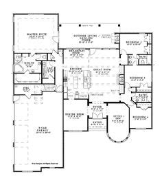 One Story House Plans With Large Kitchens Good House Plans With Large Kitchen One Story Best House