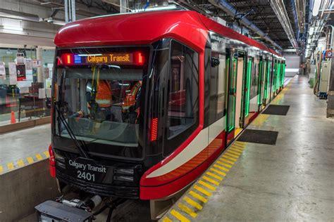 Calgary Transit Welcomes  Mask Ctrain Car