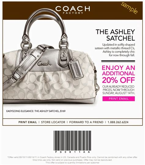 printable coupons for coach outlet 50 30 off coach outlet offer this is new expired on