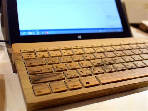 designboom wooden keyboard bluetooth wooden keyboard by oree wood tech design