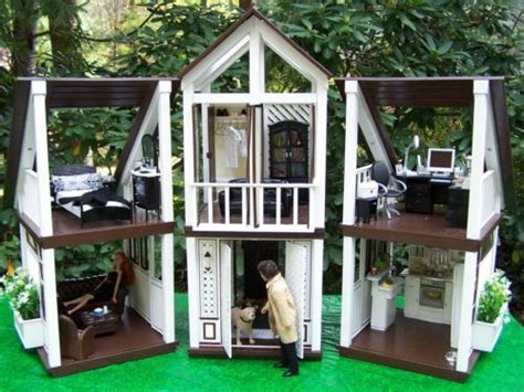 mansion dog house ooak barbie dream house ken doctor mansion furniture office bedroom kitchen dog