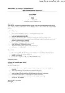 Lecturer Resume Sle by Assistant Prof Resume Sales Assistant Lewesmr