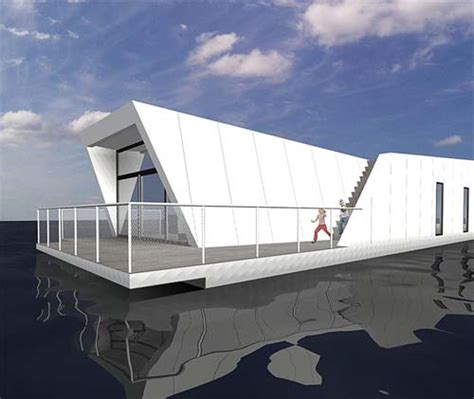 houseboat furniture houseboats with modern villa architecture by