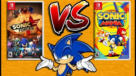 Nintendo Switch Sonic Forces Standard Edition sonic forces vs sonic mania nintendo switch