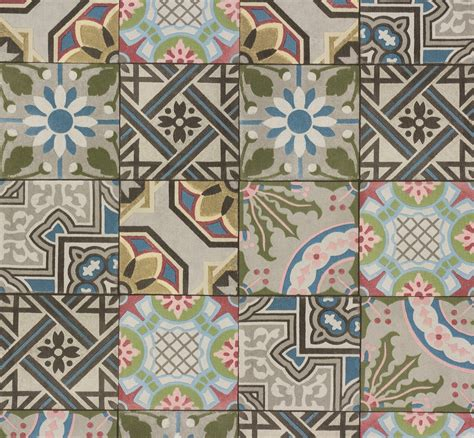 Mosaik Tapete by Tapete Fliese Kachel Mosaik Ethno Rasch Bunt 526301