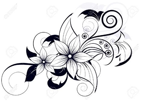 flower swirl tattoo designs decorative corner border designs search saddles