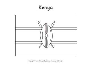 template of kenya flag kenya flag printables for