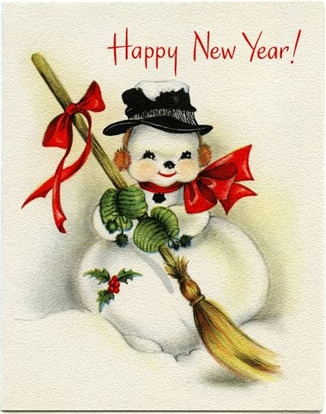 free vintage happy new year greeting cards elves with free happy new year vintage wallpaper