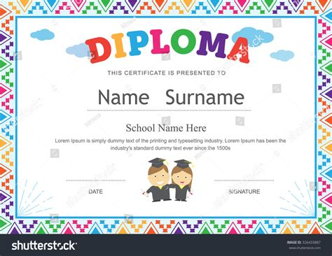 search results for certificate template for kids