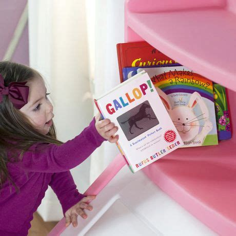 Step2 Lift And Hide Bookcase Storage Box Reviews Step2 Lift Hide Pink Bookcase Storage Chest Walmart Canada