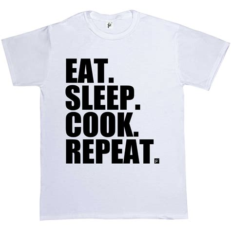 T Shirt Kaos Vape Eat Sleep Vape Repeat Dealldo Merch eat sleep cook repeat cooking chef mens t shirt