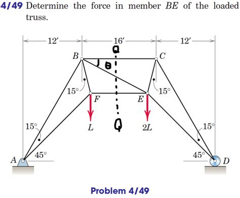 method of sections truss problems statics problem 4 49 method of sections physics forums