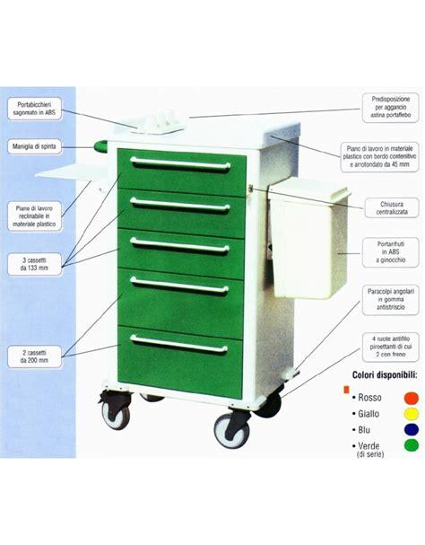 carrello con cassetti carrello terapia con 5 cassetti arredamento ospedaliero