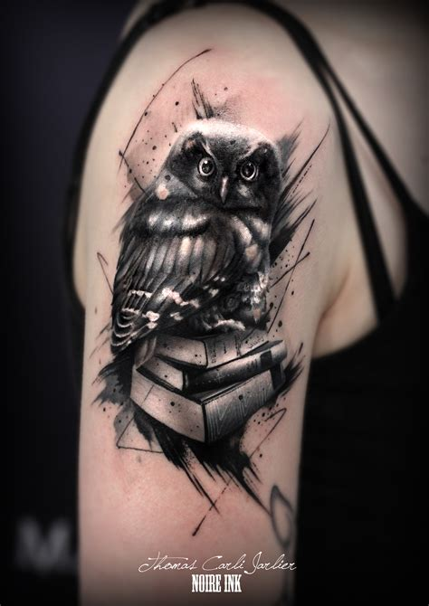 tattoo owl books owl book tattoo recherche google thinking of inking
