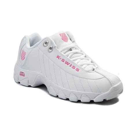 k swiss athletic shoes womens k swiss st 329 low athletic shoe white 96376033
