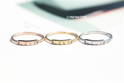 letter bar ring womens rings rings unique