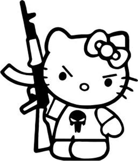 gangster hello kitty coloring pages gangster hello kitty drawings sketch coloring page