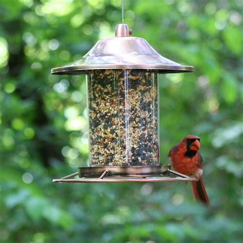 opus copper panorama bird feeder amazon co uk garden
