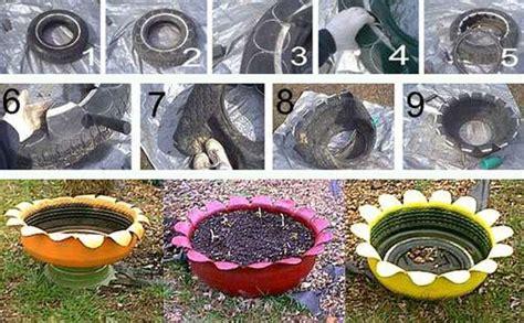 imagenes de jardines con neumaticos 1000 ideas creativas de neum 225 ticos reciclados bricoblog