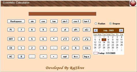 visitor pattern calculator scientific calculator in c