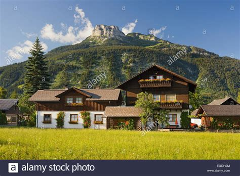 houses to buy in austria traditional houses in altaussee berg loser styria austria stock photo royalty free