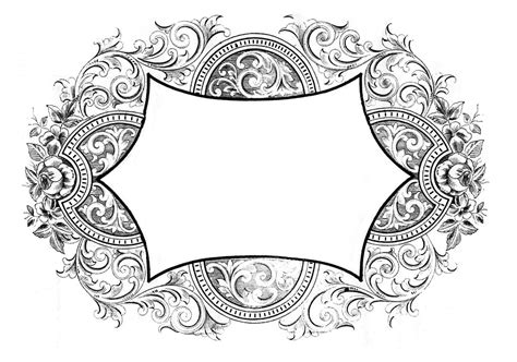 vintage clip art french label anchor round frame vintage graphics gorgeous scrolly frames the graphics