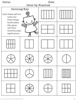 Coloring Fractions by Not Your Mother's Math Class | TpT