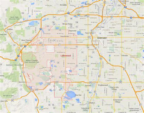 colorado united states map lakewood colorado map