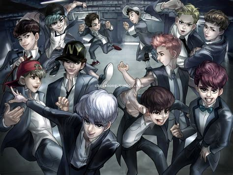 wallpaper exo growl exo growl by kimchii on deviantart
