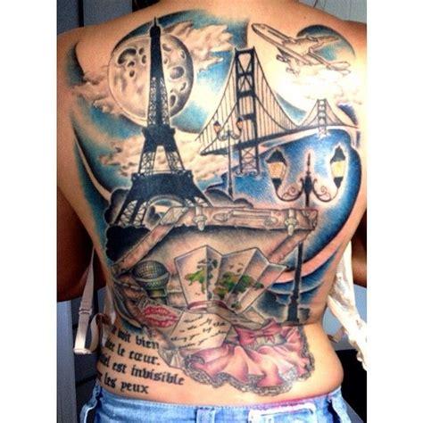 tatuajes de viajes en el brazo