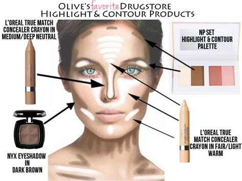 best contouring makeup products olive s favorite drugstore highlight contour products