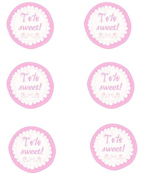 printable dance tags tutu sweet free printables ballet party ideas