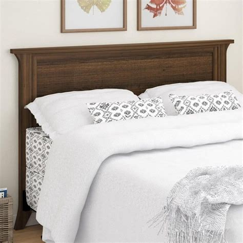 wood full queen panel headboard in homestead oak 5678322pcom