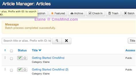 joomla tutorial article manager joomla 3 0 tutorial how to copy paste articles