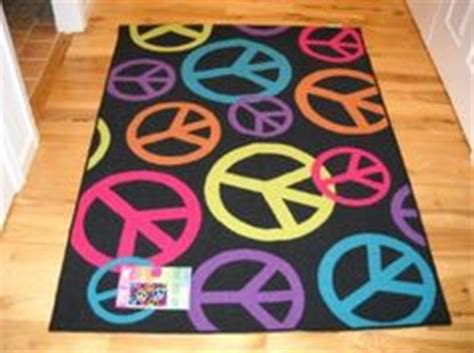 Girls Bedroom Decor Peace Signs Live Laugh Love Throw Rug Peace Sign Area Rug