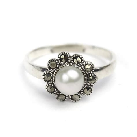 buy marcasite pearl ring heritage