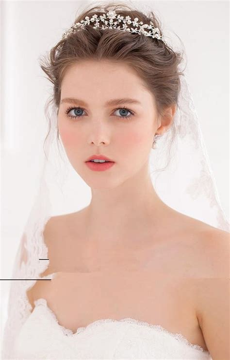 Wedding Hairstyles 2016 With Veil by Wedding Crown And Veil Www Pixshark Images