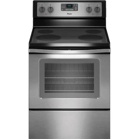 whirlpool wfeses ss  electric smooth top range