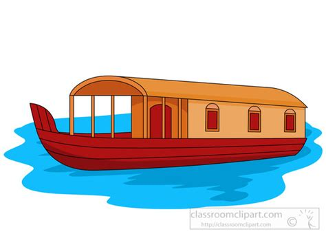 picture of house boat boats and ships houseboat in water clipart 782