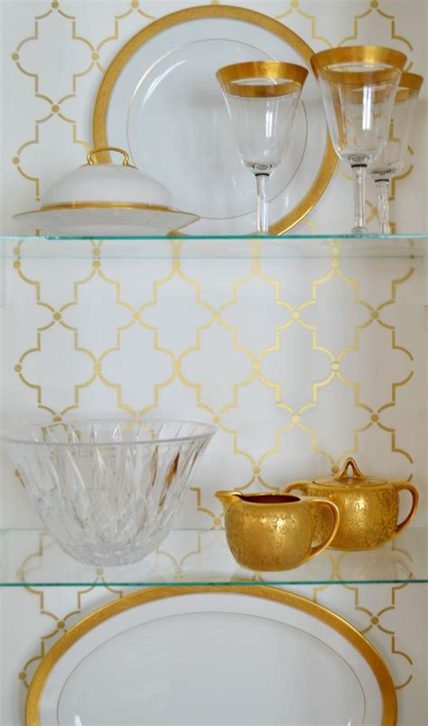White china cabinet craigslist makeover gold stencil gold china 724 south house home