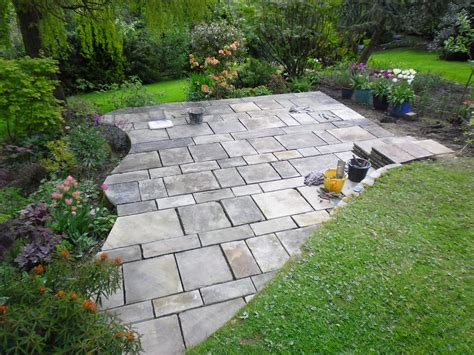 reclaimed yorkshire stone flag patio cragg builders