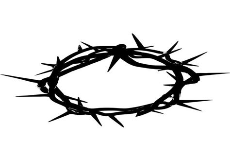 printable crown of thorns crown of thorns download free vector art stock graphics