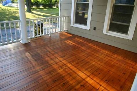 refinish wood porch floor autumn diy project