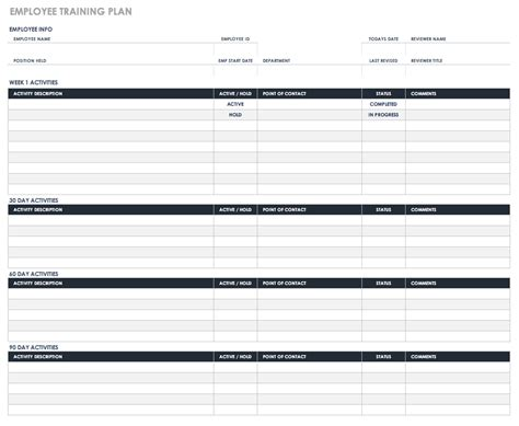 Free Human Resources Templates In Excel Workout Creator Template